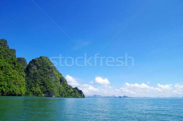 Deniz krabi kayalar su manzara okyanus Stok fotoğraf © Pakhnyushchyy
