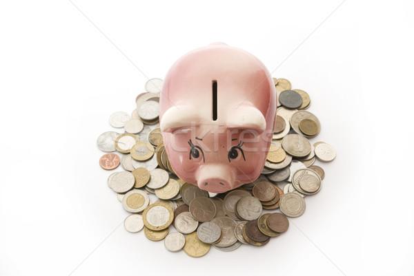 piggy bank in  coins Stock photo © Pakhnyushchyy