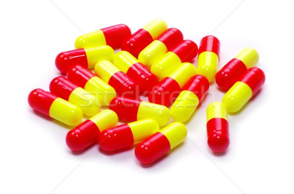 Pilules antibiotique isolé blanche médecine pharmacie Photo stock © Pakhnyushchyy