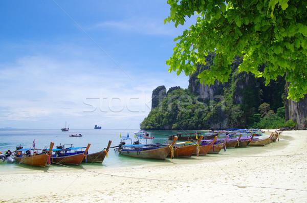 boats on beach Stock photo © Pakhnyushchyy
