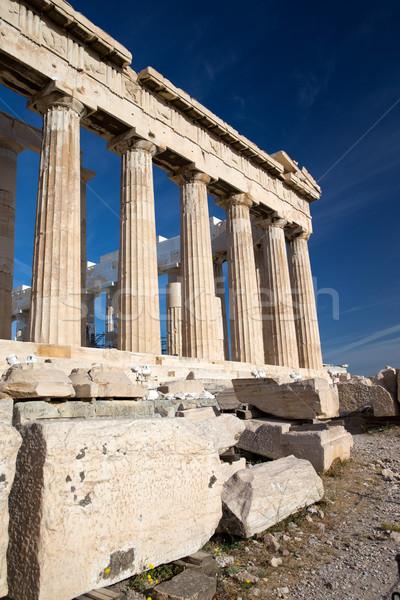 Foto stock: Partenon · Acrópole · Atenas · Grécia · antigo · templo