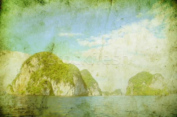 Isla krabi mar playa agua paisaje Foto stock © Pakhnyushchyy