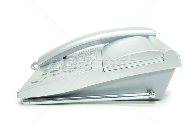 Teléfono gris oficina blanco mesa cable Foto stock © Pakhnyushchyy