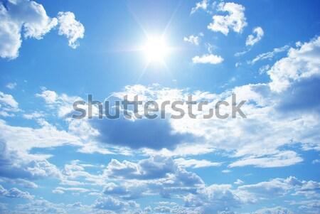 Cielo blu nubi sole bellezza spazio skyline Foto d'archivio © Pakhnyushchyy