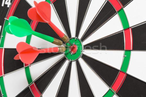 Freccette frecce target centro divertimento rosso Foto d'archivio © Pakhnyushchyy