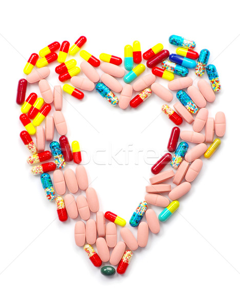 Pillole antibiotico isolato bianco medicina dolore Foto d'archivio © Pakhnyushchyy