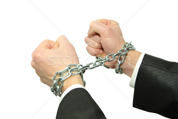 hands in chains Stock photo © Pakhnyushchyy