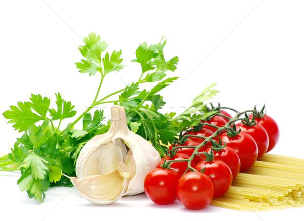 Pomodori pasta bianco alimentare olio colore Foto d'archivio © Pakhnyushchyy