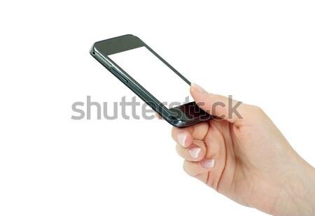 hands with mobile Stock photo © Pakhnyushchyy