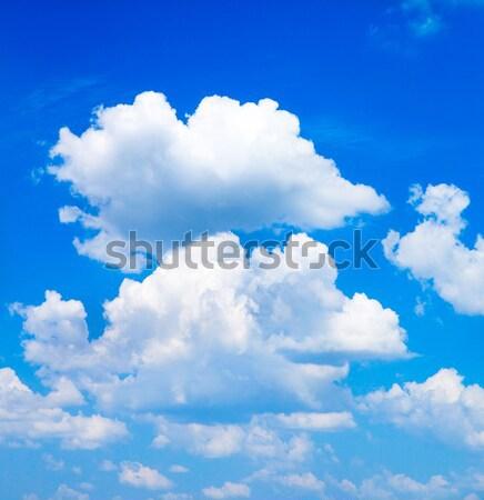 Geen beschrijving hemel zomer Blauw kleur Stockfoto © Pakhnyushchyy