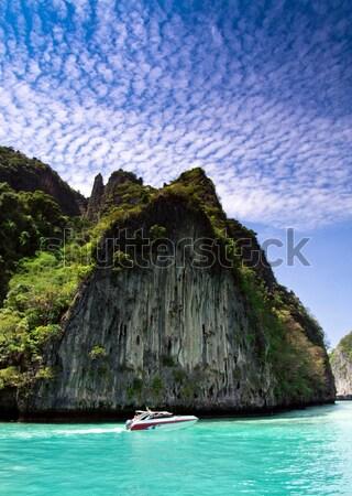 Deniz kayalar krabi plaj su manzara Stok fotoğraf © Pakhnyushchyy