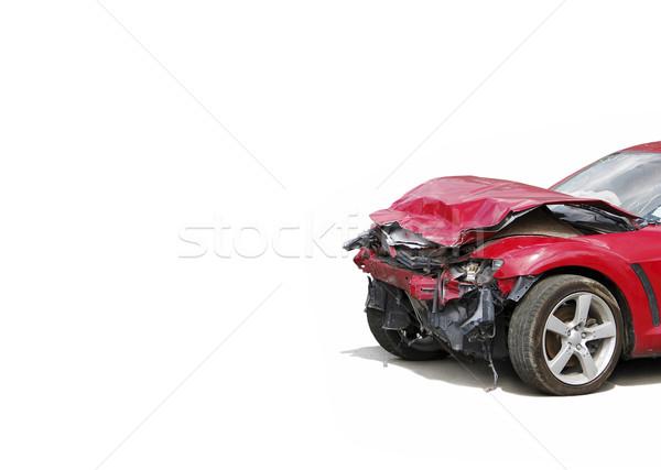 Destruir automático acidente caminhão direito Foto stock © Pakhnyushchyy