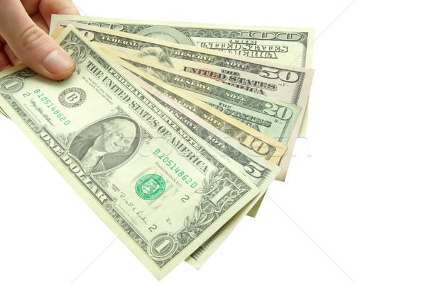 Para eller yalıtılmış beyaz iş stok Stok fotoğraf © Pakhnyushchyy