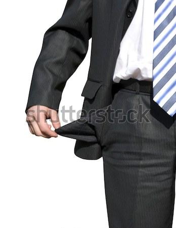 Becsődölt üzletember üres üzlet férfi test Stock fotó © Pakhnyushchyy
