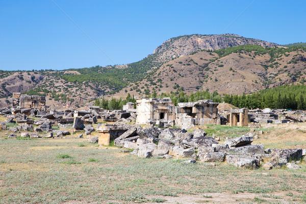 Antigua ruinas construcción arte viaje piedra Foto stock © Pakhnyushchyy