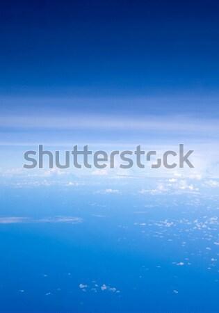 Wolken antenne hemel licht ruimte Blauw Stockfoto © Pakhnyushchyy