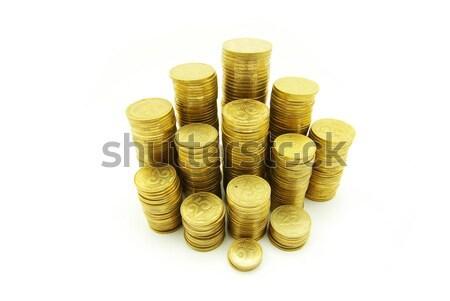 Türme Münzen isoliert Business Euro hat Stock foto © Pakhnyushchyy