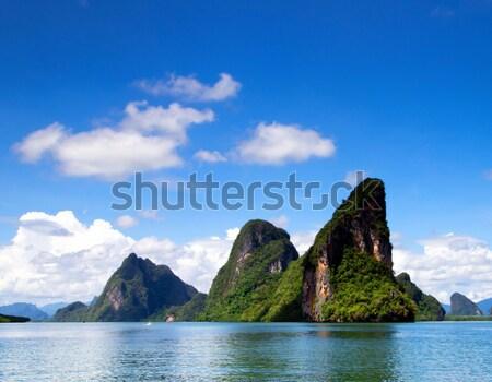 Trópusi sziget tájkép Thaiföld égbolt tenger óceán Stock fotó © Pakhnyushchyy