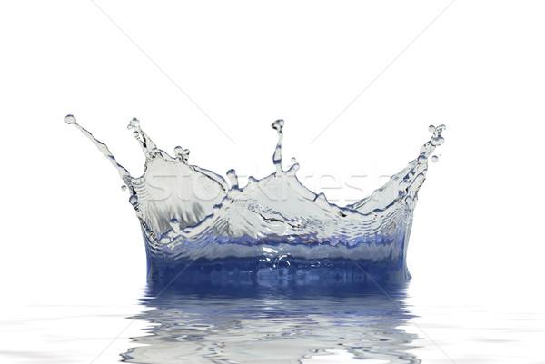 Faíscas água azul branco acelerar onda Foto stock © Pakhnyushchyy
