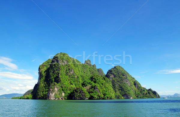 Tropisch eiland landschap Thailand hemel zee oceaan Stockfoto © Pakhnyushchyy