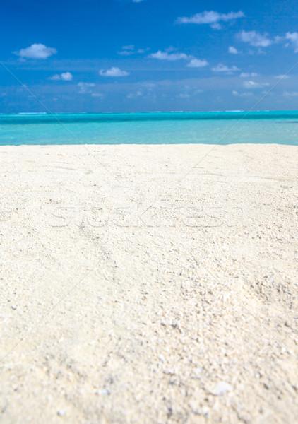 тропический пляж белый небе воды пейзаж лет Сток-фото © Pakhnyushchyy