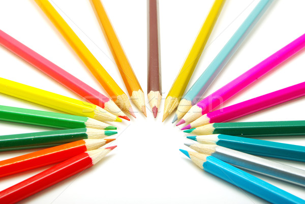 coloured pencils Stock photo © Pakhnyushchyy