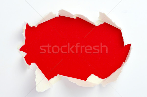Yırtık kağıt uzay duvar soyut imzalamak siyah Stok fotoğraf © Pakhnyushchyy