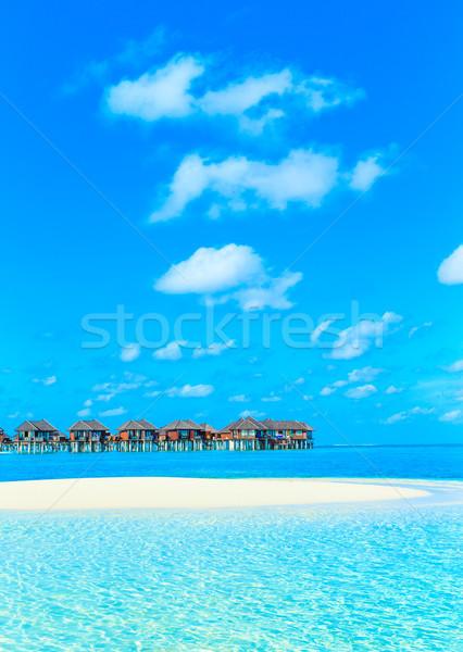 тропический пляж белый природы пейзаж морем океана Сток-фото © Pakhnyushchyy