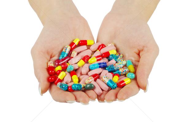 hands holds pills Stock photo © Pakhnyushchyy
