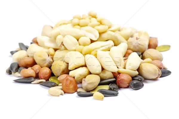 орехи семян изолированный белый продовольствие кукурузы Сток-фото © Pakhnyushchyy