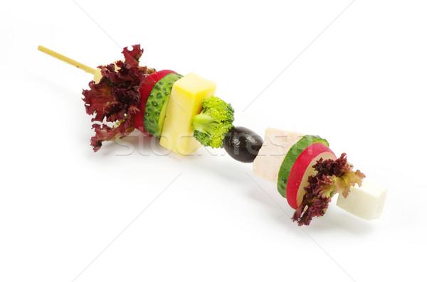 Salade poissons fruits vert pain manger Photo stock © Pakhnyushchyy