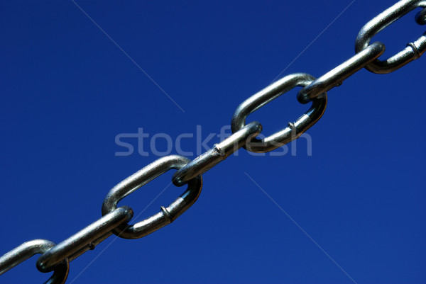 új lánc izolált sötét kék fém Stock fotó © Pakhnyushchyy