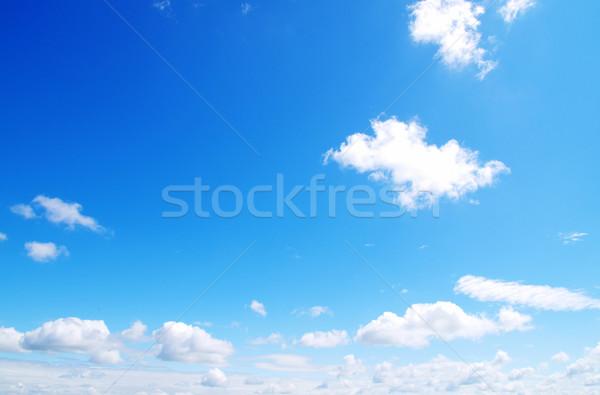 Blauwe hemel wolken zon ruimte skyline kleur Stockfoto © Pakhnyushchyy