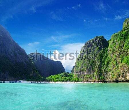 Mar krabi rocas agua paisaje océano Foto stock © Pakhnyushchyy