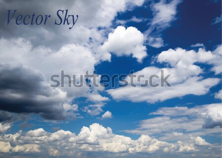 Blauwe hemel wolken hemel zomer Blauw Stockfoto © Pakhnyushchyy