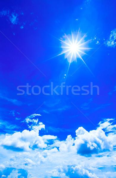 clouds in the blue sky Stock photo © Pakhnyushchyy