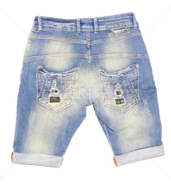 джинсов шорты изолированный белый текстуры Сток-фото © Pakhnyushchyy