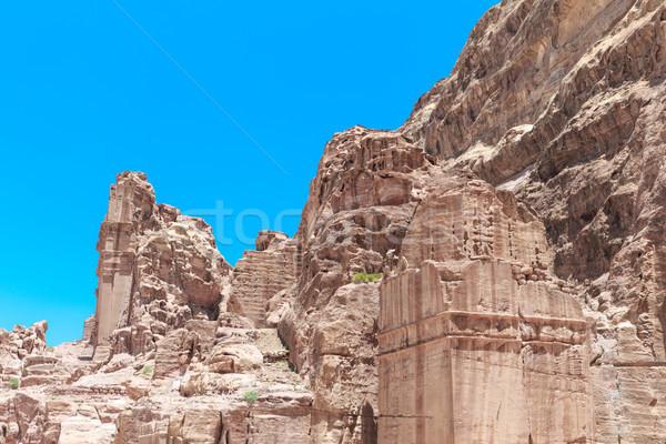 Opuszczony miasta piasku rock kamień ścieżka Zdjęcia stock © Pakhnyushchyy