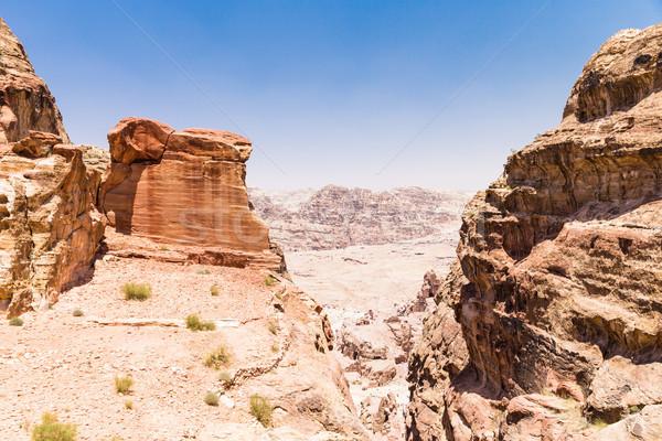 Jordanian desert at Petra Stock photo © Pakhnyushchyy