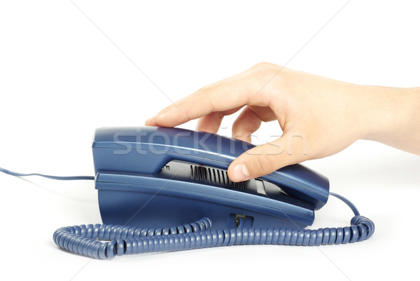 telephone receiver in hand  Stock photo © Pakhnyushchyy