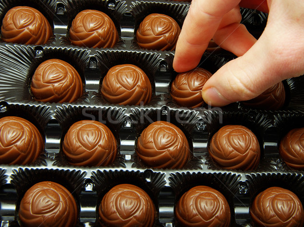 Stok fotoğraf: Kutu · lezzetli · çikolata · şeker · tatlı · tatil