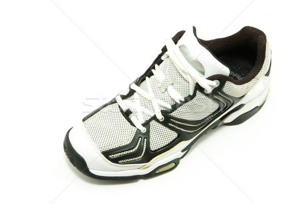 Scarpe da corsa bianco palestra scarpe formazione pelle Foto d'archivio © Pakhnyushchyy