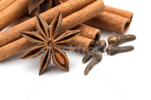 Cloves, anise and cinnamon  Stock photo © Pakhnyushchyy