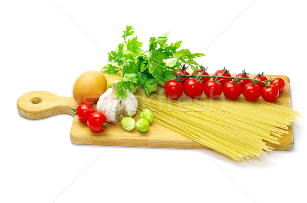 Stock photo: pasta with tomatoes