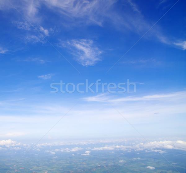 Cielo cielo blu nubi sole bellezza spazio Foto d'archivio © Pakhnyushchyy