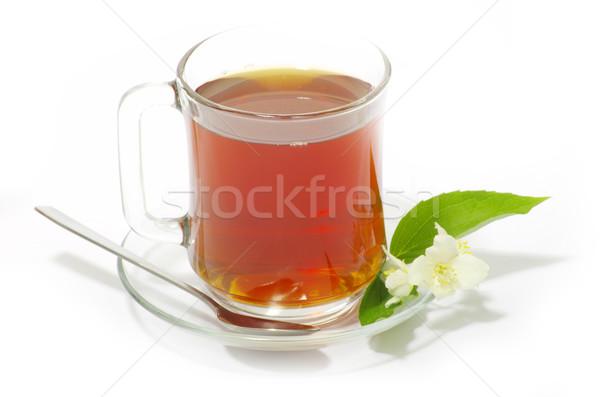 Folha de vidro fundo beber Foto stock © Pakhnyushchyy
