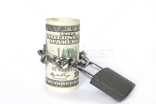 Dollars locked a chain Stock photo © Pakhnyushchyy