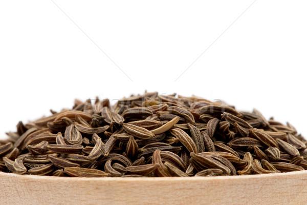 Komijn zaden geïsoleerd witte asian Stockfoto © Pakhnyushchyy