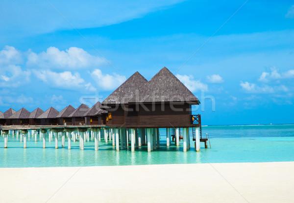 Plaj su doğa deniz mavi kum Stok fotoğraf © Pakhnyushchyy