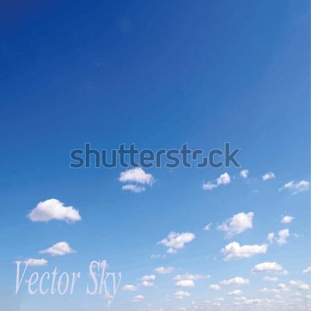 Nubi cielo blu minuscolo bellezza spazio skyline Foto d'archivio © Pakhnyushchyy